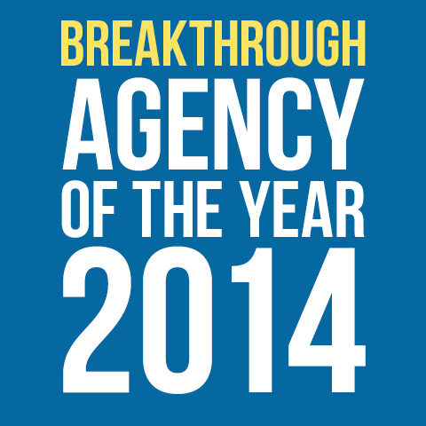 Breakthrough agency of the year 2014